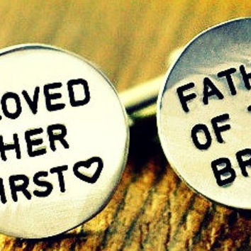 Monogrammed Father of the Bride Cuff Links