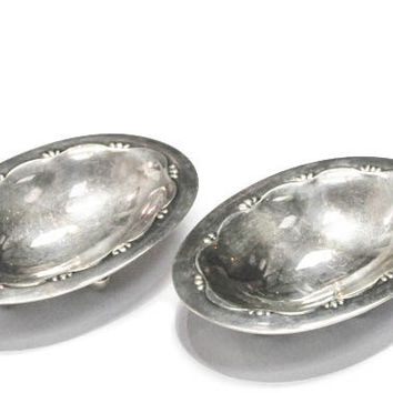 Pair of Georg Jensen Sterling Salts by Bellman Jewelers