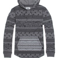On The Byas Lucas Printed Pullover Hoodie - Mens Shirt - Black