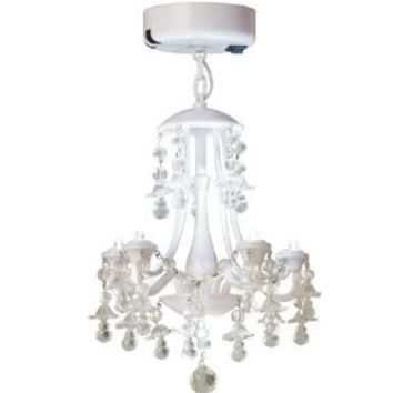 White Locker Chandelier