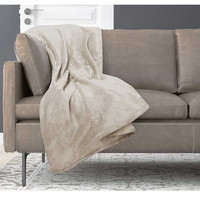 Snuggle Ultra Lux Solid Color Throw – Sand