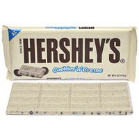 Hershey's Cookies n Creme 4-Ounce Jumbo Candy Bars: 12-Piece Box