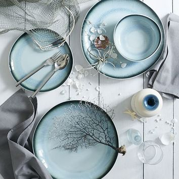 Organic Shaped Crackle Dinnerware