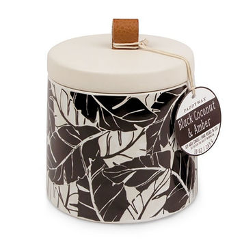 Botany 10oz Ceramic Candle With Lid