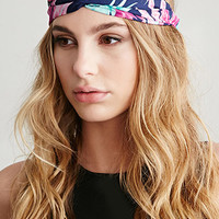 Frond Print Headwrap