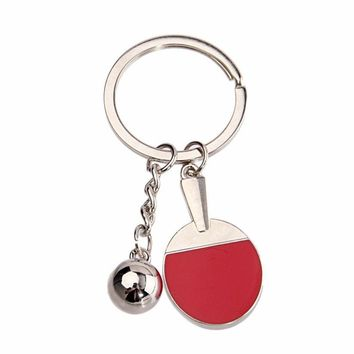Keychain Ping-Pong Ball Shaped