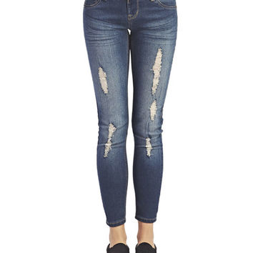 Destroyed Jeggings - Short | Wet Seal