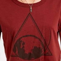 Truly Madly Deeply The World Is Mad Crop Tee in Red - Urban Outfitters