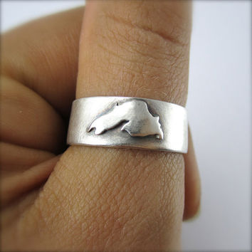 Lake Superior Band Sterling Silver.  By Beth Millner