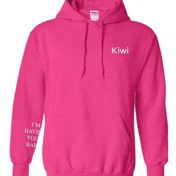 "Harry Styles ""Kiwi / I'm Having Your Baby SLEEVE"" Hoodie Sweatshirt"