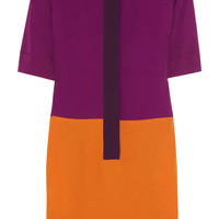 Victoria, Victoria Beckham | Color-block crepe dress | NET-A-PORTER.COM