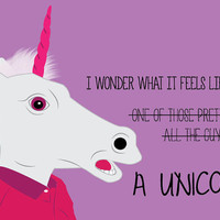 I wonder what it would be like to be a Unicorn Quote Shirt