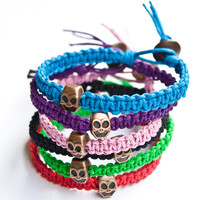 Skull Bracelet Hemp Friendship
