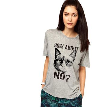 How About No? - Grumpy Cat - Women's Sarcasm T-shirt