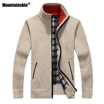 Mountainskin New Men's Sweaters Winter Warm Pullover Thick Cardigan Coats Mens Brand Clothing Male Casual Knitwear SA582