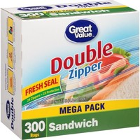 Great Value Sandwich Bags, 300 count - Walmart.com