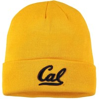 Men's Top of the World Gold Cal Bears Primary Logo Simple Cuffed Knit Hat