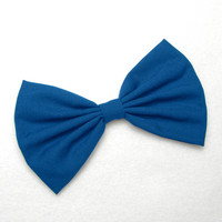 Hair Bow Clip - Royal Blue