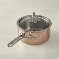 Ruffoni Omegna Cupra Hammered Copper Sauce Pan