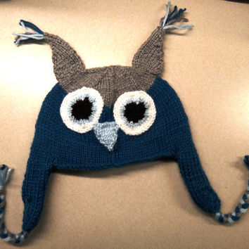 Owl Hat  Made to Order by ConchoPurl on Etsy