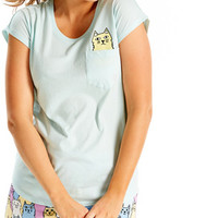 Kitty In A Pocket Tee