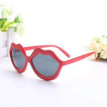 Funny Red Lips Party Glasses