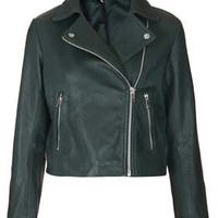 Boxy Leather Biker Jacket - New In This Week  - New In