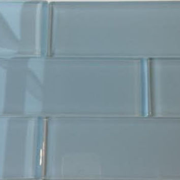 Ocean Grey 2x8 Subway Glass Tile