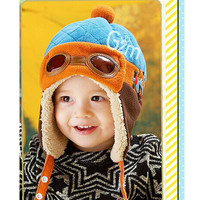 Cute Toddlers Cool Baby Boy Girl Kids Infant Winter Pilot Aviator Warm Cap Hat