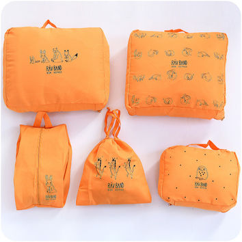 Korean Lovely Animal Clothing Waterproof Storage Stuff Bag Travel Storage Bag [7279001735]