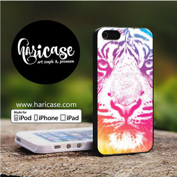 Colorful Indie Tiger iPhone 5 | 5S | SE Cases haricase.com