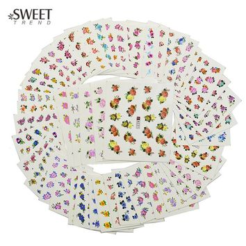 48pcs Charm Nail Art Flower Designs Water Stickers Water Transfer Nail Art Decals Beauty Fashion Manicure Decoration LAA001-048