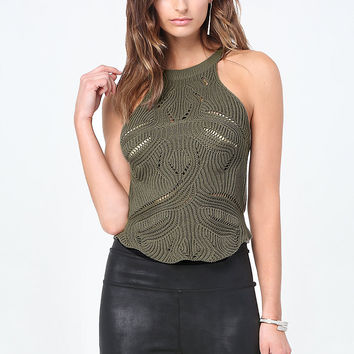 Pointelle Sweater Top | bebe