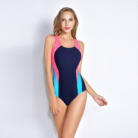 Color Block One Piece Bikini B0014308