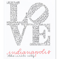 Indy Love Calligraphy Print