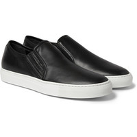 Balmain - Leather Slip-On Sneakers | MR PORTER