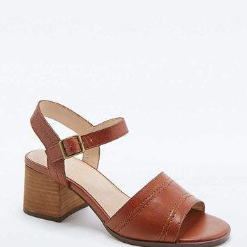 Mia Brown Leather Stitched Heels - Urban Outfitters