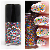 Rainbow Reflections Glitter Nail Polish