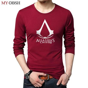 Fashion Hipster Assassins creed Game Men t shirts Summer Fashion Cotton design printing men Long sleeve T-shirts Free Shipping