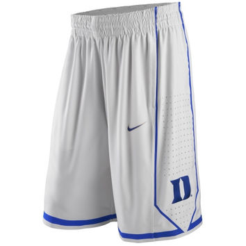0a3c1e2d52b0 Nike Duke Blue Devils Authentic Performance Basketball Shorts - White