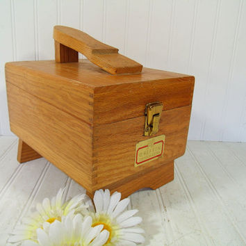 Vintage Griffin Shinemaster DoveTail Wooden Shoe Shine Box - Retro Shoe Shine Bin Supplies & Tools Storage Box - Handyman Artisan Tool Chest