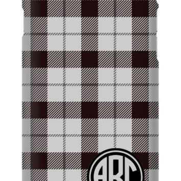 Plaid Monogram iPhone 6S Slim Case