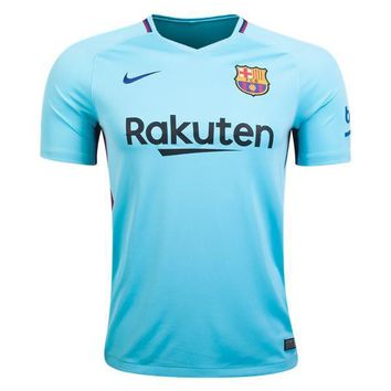 KUYOU Barcelona 2017/18 Away Men Soccer Jersey Personalized Name and Number