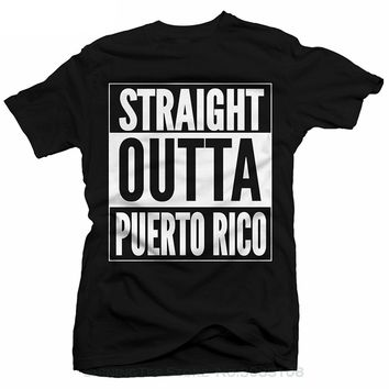 Straight Outta Puerto Rico T-shirt - Novelty Tee