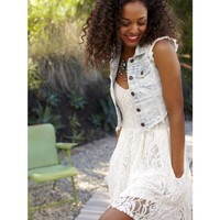 Lace Pocket Skater Dress