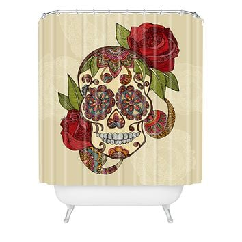 Valentina Ramos Sugar Skull Shower Curtain