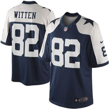Mens Dallas Cowboys Jason Witten Nike Navy Blue Throwback Limited Jersey