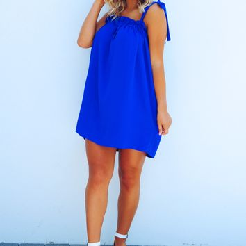 I'm Free Dress: Royal Blue