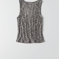 AEO Soft & Sexy Lace-Up Tank , True Black
