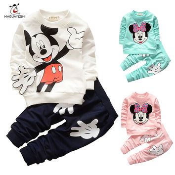 Baby Clothing Set Boys Girls Tracksuits Cartoon Sport Suit T-Shirt Pants Kids Girl Clothes Batman Outfits Children Clothing Set